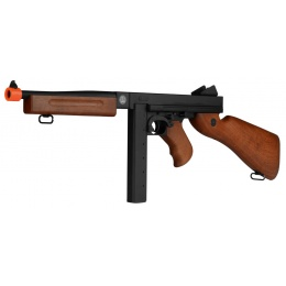 A&K M1A1 Submachine Gun SMG Airsoft Spring Rifle - IMITATION WOOD