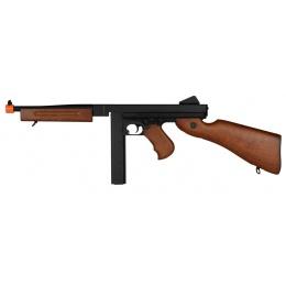A&K M1A1 Submachine Gun SMG Airsoft Spring Rifle - IMITATION WOOD