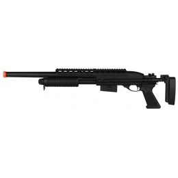 A&K M870 Tactical Pump Action Full Metal Airsoft Shotgun - BLACK