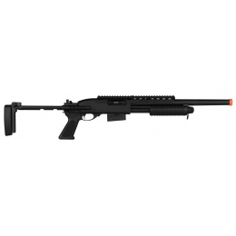 A&K M870 Tactical Pump Action Full Metal Airsoft Shotgun - BLACK