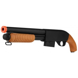 A&K 870 Pump Action Metal Airsoft Sawed-Off Shotgun - REAL WOOD