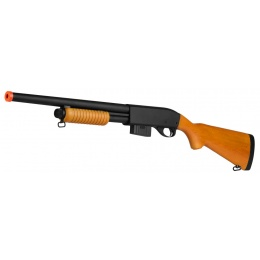 A&K 870 Pump Action Metal Airsoft Shotgun w/ Full Stock  - REAL WOOD