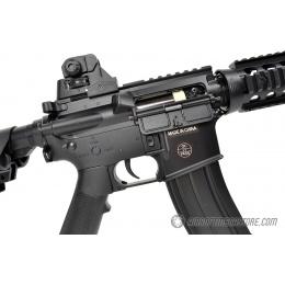 300 FPS CYMA M4 CQB RIS CM206 LPEG AEG Polymer Airsoft Rifle - BLACK