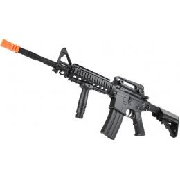 320 FPS CYMA M4 RIS CM207 LPEG AEG Polymer Airsoft Rifle - BLACK