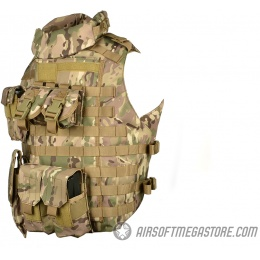 AMA 600D MOLLE Interceptor Body Armor OTV Plate Carrier - LAND CAMO
