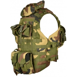 AMA 600D MOLLE Interceptor Body Armor OTV Plate Carrier - WOODLAND
