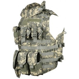 AMA 600D MOLLE Interceptor Body Armor OTV Plate Carrier - ACU