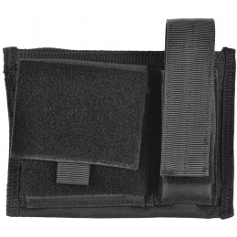 AMA 600D Tactical MOLLE Admin Panel w/ Pistol Magazine Pouch - BLACK