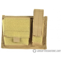 AMA 600D Tactical MOLLE Admin Panel w/ Pistol Magazine Pouch - TAN