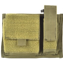 AMA 600D Tactical MOLLE Admin Panel w/ Pistol Magazine Pouch - OD