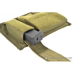 AMA 600D Tactical MOLLE Admin Panel w/ Pistol Magazine Pouch - OD