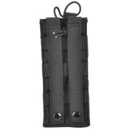 Airsoft Megastore Armory 600D MOLLE Large Tactical Radio Pouch - BLACK