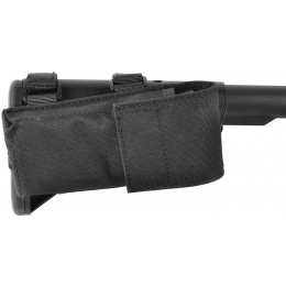 AMA 600D M4/M16 Single Rifle Buttstock Magazine Battery Pouch - BLACK