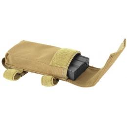AMA 600D M4/M16 Single Rifle Buttstock Magazine Battery Pouch - TAN