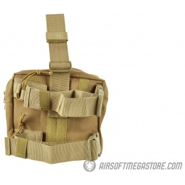 Airsoft Megastore Armory 600D MOLLE Drop Leg Utility Mag Pouch - TAN