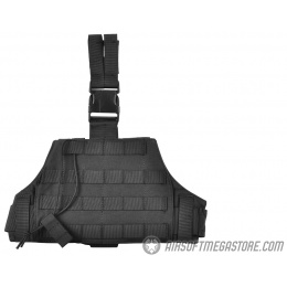 AMA 600D Tactical Triangular Drop Leg MOLLE Panel Platform - BLACK