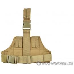 AMA 600D Tactical Triangular Drop Leg MOLLE Panel Platform - TAN