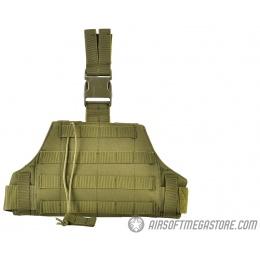 AMA 600D Tactical Triangular Drop Leg MOLLE Panel Platform - OD GREEN
