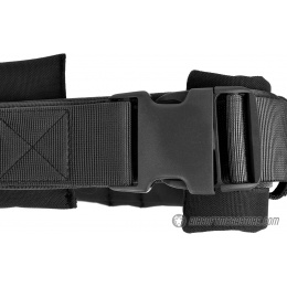 Airsoft Megastore Armory 600D Duty Belt w/ Padded Liner - BLACK