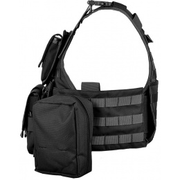 AMA 600D MOLLE Tactical Assault Vest w/ Cummerbund (Black)