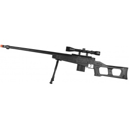 WellFire MB4409 MK96 Covert Bolt Action Airsoft Sniper Rifle - BLACK