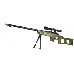 WellFire MB4409 MK96 Covert Bolt Action Airsoft Sniper Rifle - OD GREEN