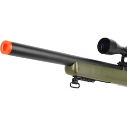 WellFire Bolt Action VSR CQB Airsoft Sniper Rifle w/ Scope - OD GREEN
