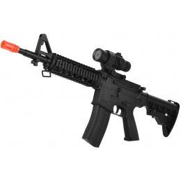 WellFire D99 LPEG Full-Auto M4 RIS AEG Airsoft Rifle w/ Mock Scope