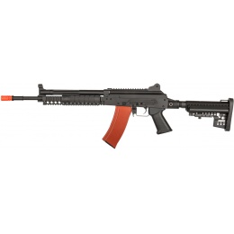 JG Works AK74 EBB Full Metal RIS Tactical Airsoft AEG Rifle - BLACK