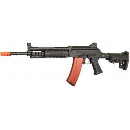 JG Works AK74 EBB Full Metal RIS Tactical Airsoft AEG Rifle - BLACK