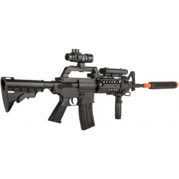 WELL MR799 Plastic M4 Airsoft Spring Rifle w/ Tactical Accessories