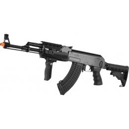 Golden Eagle AK47 RIS Tactical AEG Airsoft Gun w/ Foregrip - BLACK