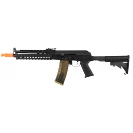 Golden Eagle Tactical AK74 Airsoft AEG Rifle w/ LE Stock - BLACK