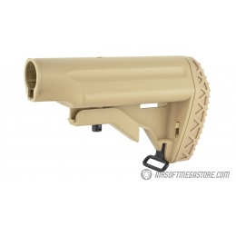Golden Eagle Airsoft M4 / M16 Retractable AEG Crane Stock - TAN