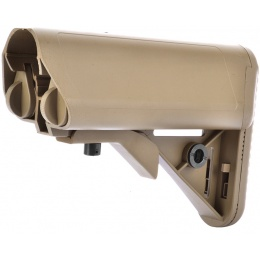 Golden Eagle M4 Airsoft Retractable Crane Stock w/ Cheek Pad - TAN