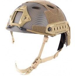 Spartan Head Gear PJ Type Airsoft Helmet w/ NVG Shroud - NAVY SEAL
