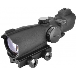 AMA 2x40mm Illuminated Fixed Airsoft Tactical Scope - Matte Black
