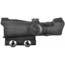 AMA 2x40mm Illuminated Fixed Airsoft Tactical Scope - Matte Black
