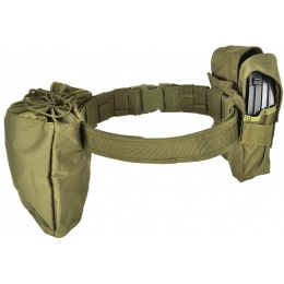 Gryffon Dragonspine Tactical Belt System w/ 2X Mag Pouches - OD