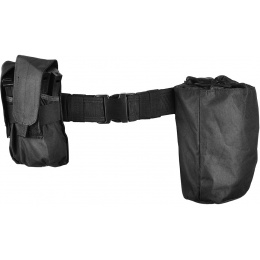 Gryffon Dragonspine Tactical Belt System w/ 2X Mag Pouches - BLACK
