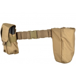 Gryffon Dragonspine Tactical Belt System w/ 2X Mag Pouches - TAN