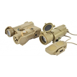 Element Airsoft Advanced PEQ-16A and Illuminator Light Combo - TAN
