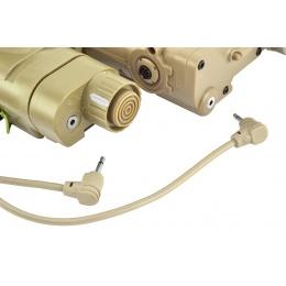 Element Airsoft Advanced PEQ-16A and Illuminator Light Combo - TAN