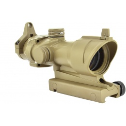 Element Airsoft 4X32 Magnified Rifle Scope w/ Back-Up Sights - TAN