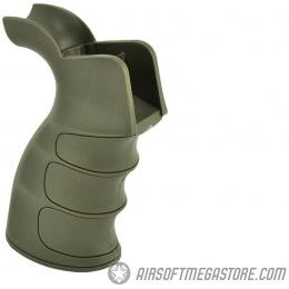 Element Ergonomic M4 / M16 Grooved AEG Tactical Motor Grip - FOLIAGE