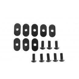 Element Airsoft 4X Polymer 20mm Handguard Rail Sections Set - BLACK