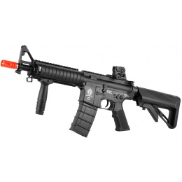 ICS M4 RIS Commando Sportline Airsoft AEG Rifle w/ Crane Stock - BLACK