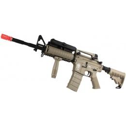 ICS M4A1 RIS Carbine Sportline Airsoft AEG Rifle w/ PEQ Box - TAN