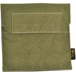 Flyye Industries Soft Hook and Loop MOLLE Admin Panel - RANGER GREEN