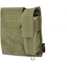 Flyye Industries MOLLE Admin Panel w/ Pistol Mag Pouch - RANGER GREEN